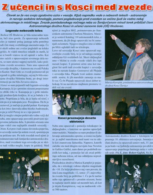 2011 Z ucenci in Kosci med zvezde